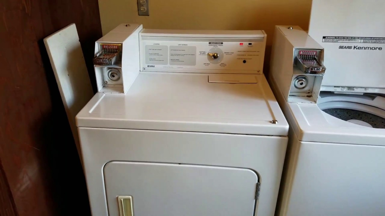 Kenmore Coin Op Dryer, Cabinet Lock Removal