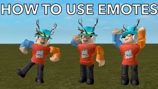 HOW TO USE EMOTES IN ANY GAME! Roblox