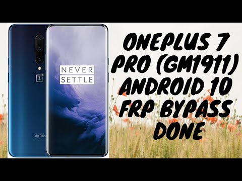OnePlus 7 Pro (GM1911) or Oneplus all android 10 FRP bypass easy method