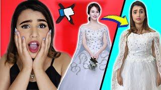 ! اشتريت اسوء فساتين زفاف على الإنترنت | صدمه 😅