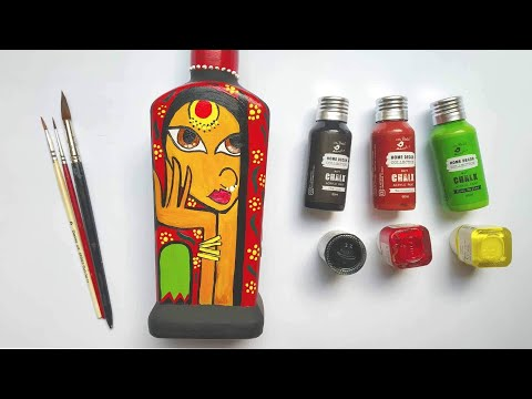 easy-bottle-art-for-beginners-|-diy-bottle-art-|-home-decor-ideas-|-simple-and-bottle-painting-|