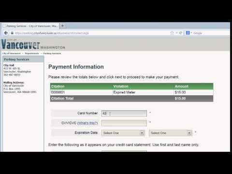 How to pay a parking citation online