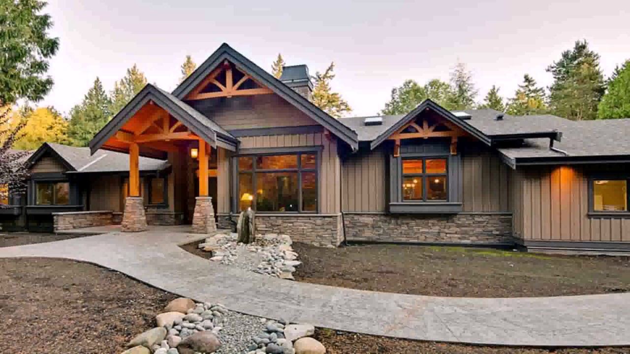 Modern Ranch Style House Designs - YouTube