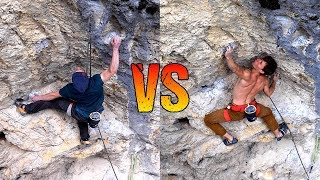 8B+ Boulderer VS 8c Lead Climber on 8a Route | COMPARISON