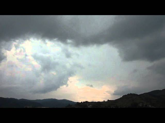 Núvols de tempesta a Ripoll  Agost 2013