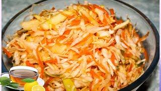 Салат из свежей капусты с яблоками и морковью