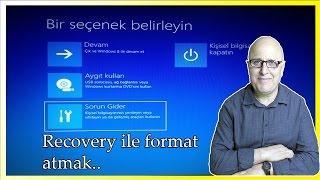 Noteboklara Recovery İle Format Nasıl Atılır?