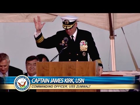Real-life Capt. James Kirk Shows Off Navy's Newest Stealth Warship USS Zumwalt