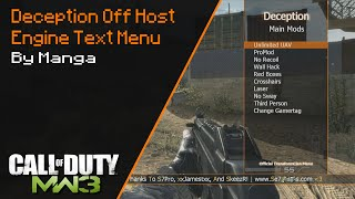Deception Off Host Engine Text Menu | TU23