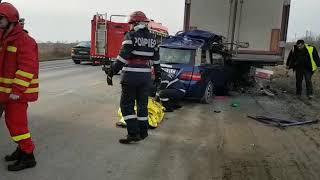 ACCIDENT mortal pe DN7 la ieșire din Arad spre Pecica 09.01.2018