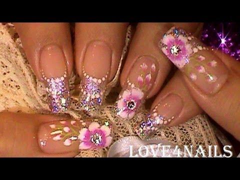 Wedding Bridesmaids Special Event Nail Art Design Tutorial Youtube