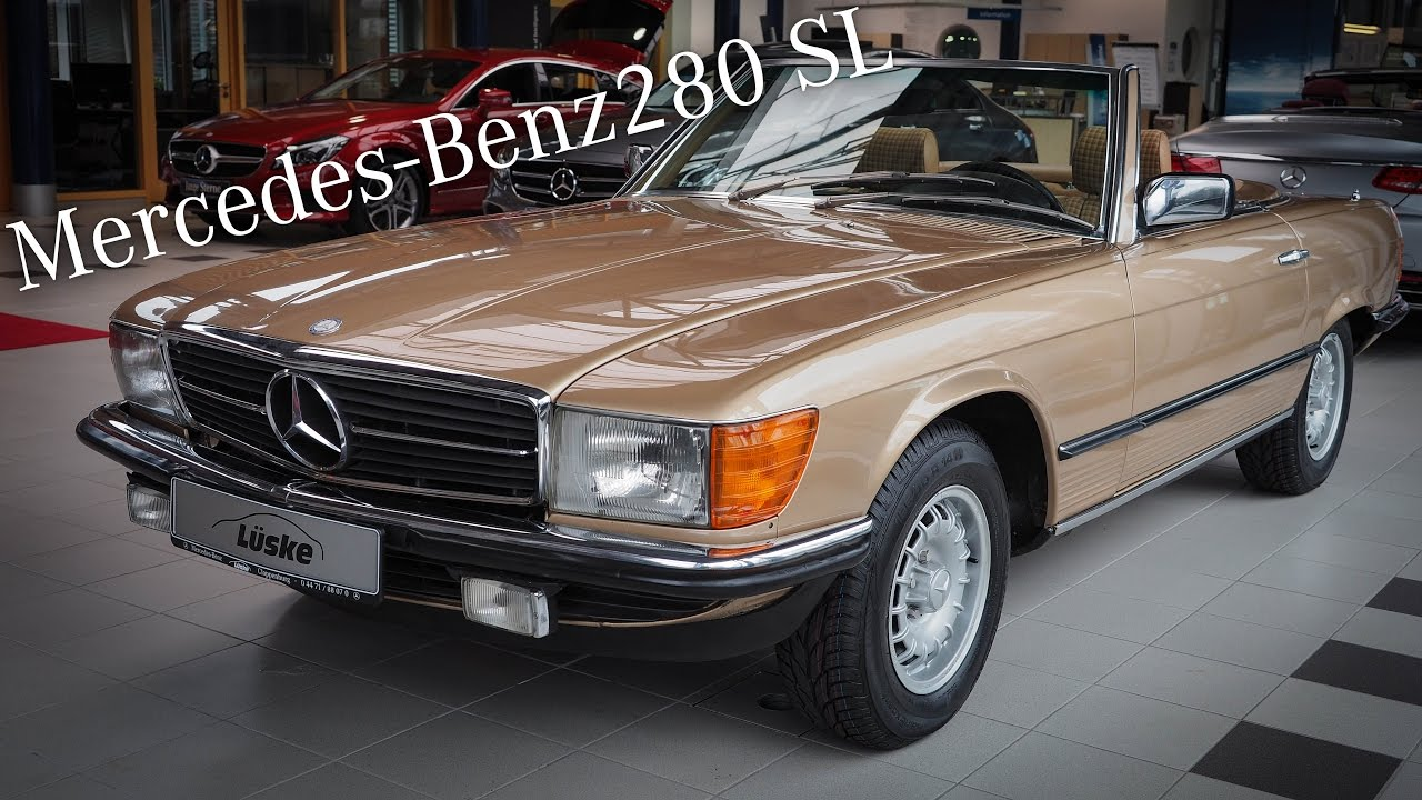 mercedes benz 280 sl r107 oldtimer i l ske classic youtube. Black Bedroom Furniture Sets. Home Design Ideas