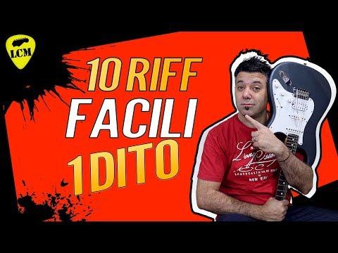 10 RIFF FACILI PER CHITARRA ELETTRICA CON 1 SOLO DITO