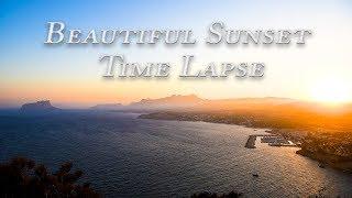 Beautiful Sunset Time Lapse - Spanish Coast HD