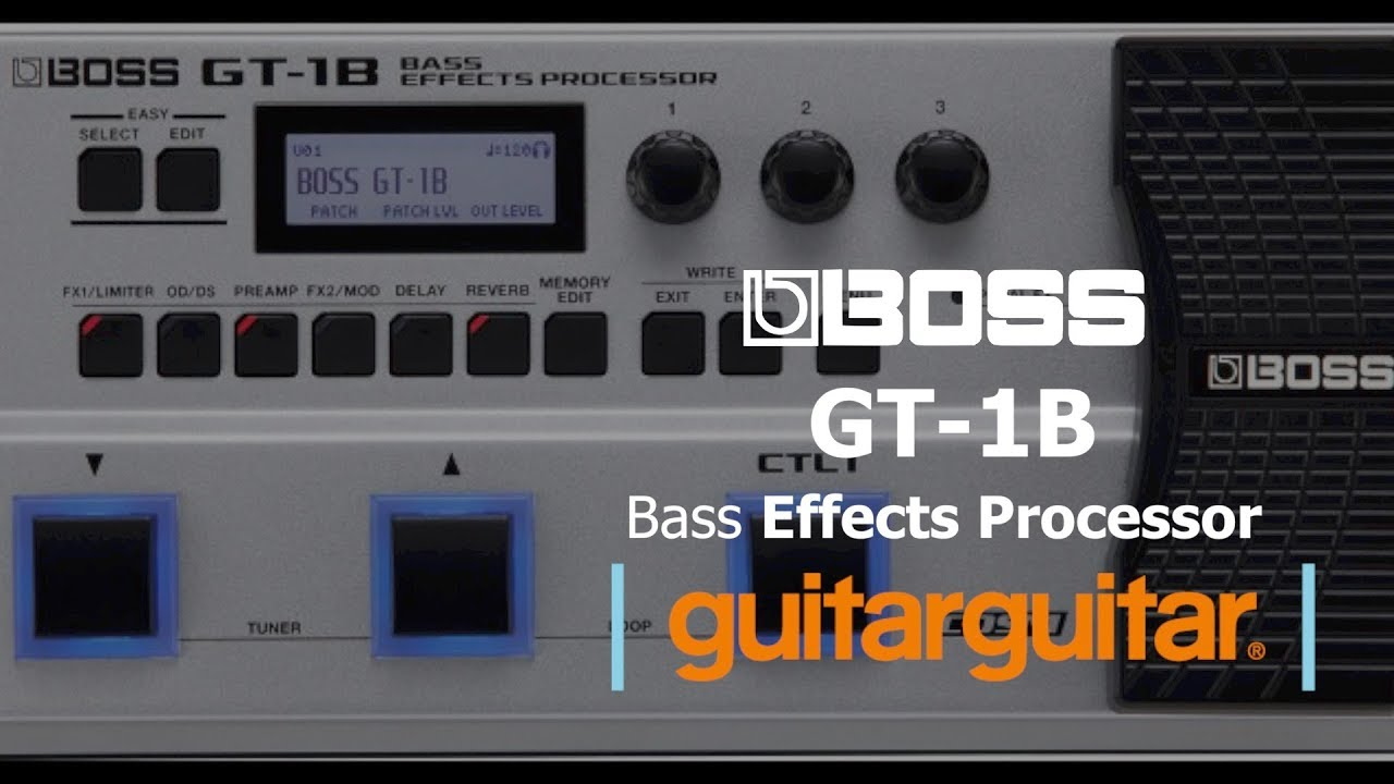 boss gt 1b bass effects processor youtube. Black Bedroom Furniture Sets. Home Design Ideas