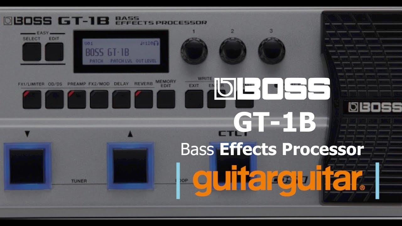 boss gt 1b bass effects processor youtube. Black Bedroom Furniture Sets. Home Design Ideas