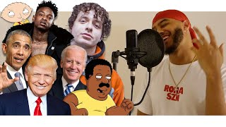 WHATS POPPIN by Jack Harlow IN VOICE IMPRESSIONS! | 21 Savage, Biden, Trump + MORE!