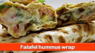 Falafel Hummus Wrap With Yogurt Sauce - By Let's Be Foodie