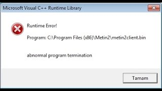[Triky] How fix RUNTIME ERROR.