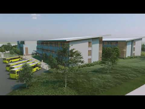 Neelsville Middle School Major Capital Project Rendered Fly Over