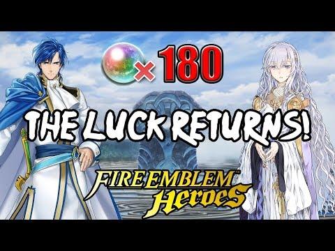 Fire Emblem Heroes: LUCKY DUCKY! World of Holy War Summons, 180 Orbs!