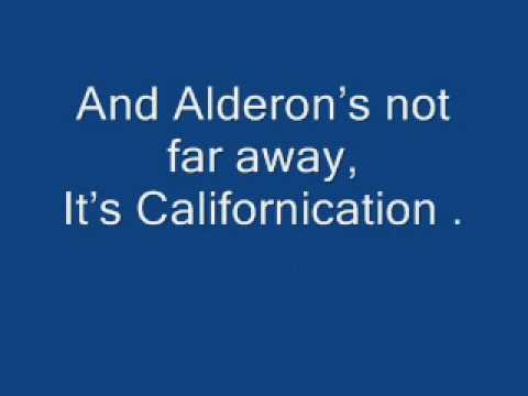 Californiacation - Red Hot Chilli Peppers [lyrics]