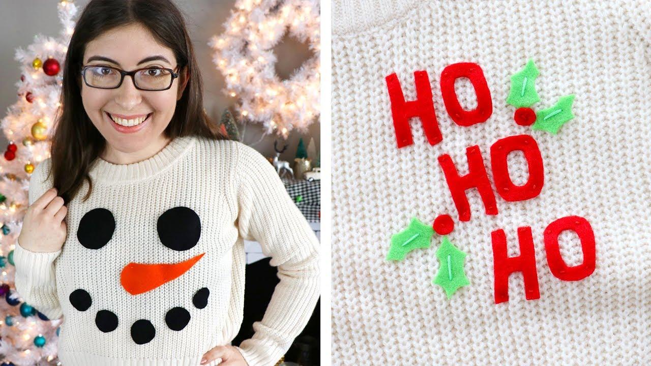 5 DIY Temporary Christmas Sweaters - HGTV Handmade - YouTube