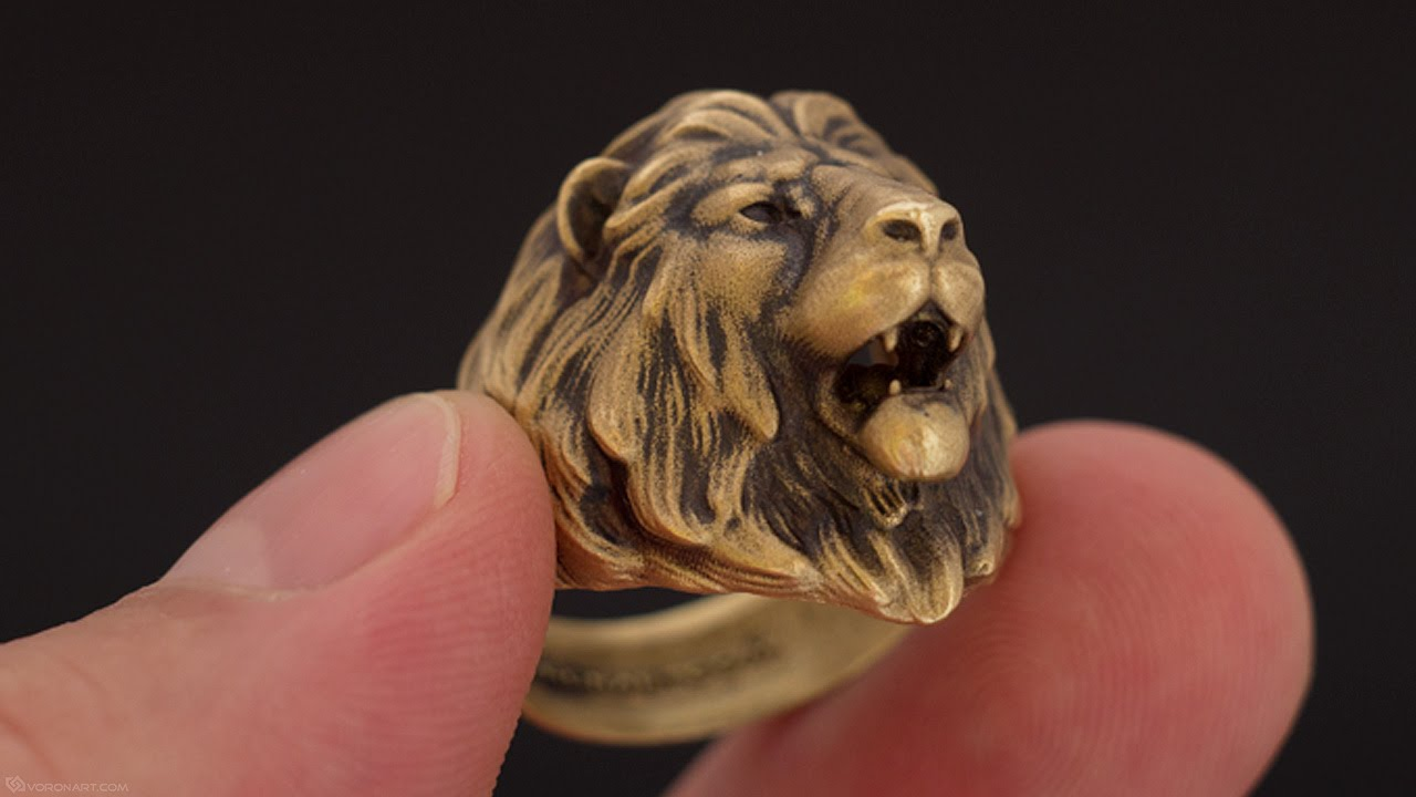 in plated accessories golden women face exaggerated on bling rings hop men item king head lion gold unique hip stainless ring gifts gothic jewelry from steel