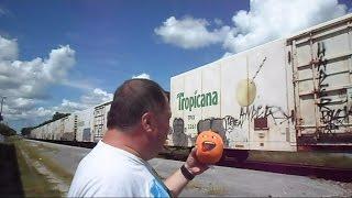 CSX Tropicana Juice Train And The Annoying Orange
