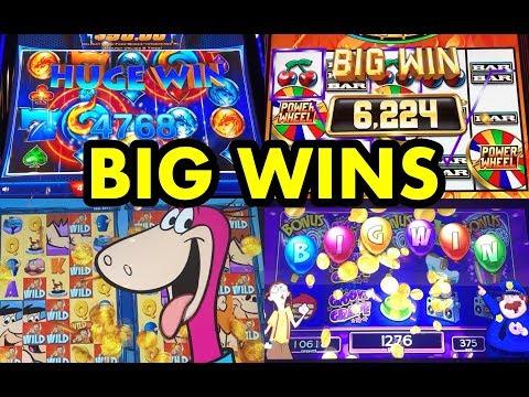 BIG WINS: Flintstones, Wild Fury, Jackpot Party Ultimate Party Spin, Power Wheel Slots
