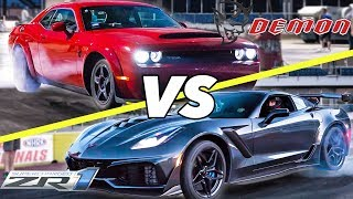 2018 ZR1 vs Demon! | Who is REALLY faster?