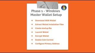 XIOS Masternode Setup - Phase 1 - Windows Wallet Setup