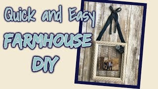 Quick and EASY Farmhouse DIY using Items from Walmart