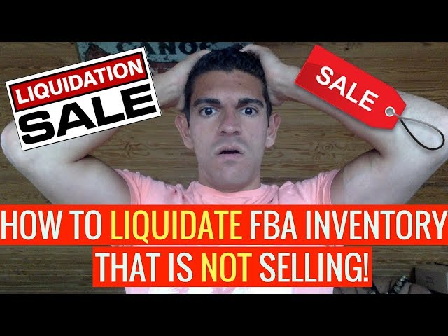6 Ways To LIQUIDATE Amazon FBA Inventory That Is NOT Selling!!