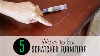 5 Easy Ways to Fix Scratched Furniture