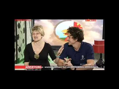 Sam Evans & Emily Bell appear on breakfast TV in Malawi in October 2014