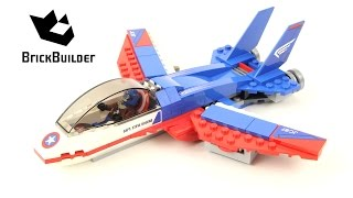 Lego Super Heroes 76076 Captain America Jet Pursuit - Lego Speed Build