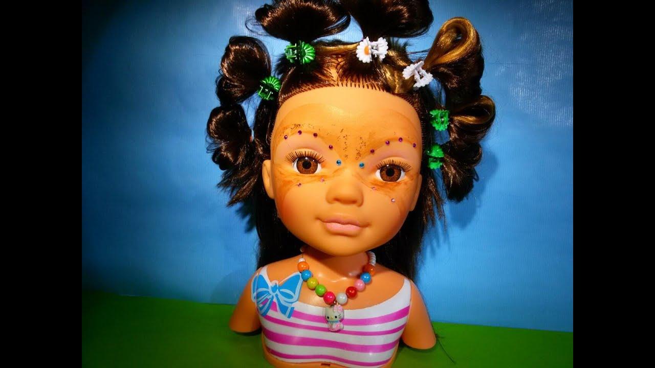 Плетем прически для куклы