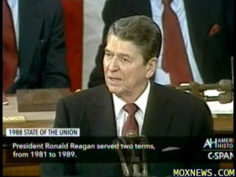 President Ronald Reagan's Final State Of The Union Address In 1988
