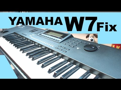 YAMAHA W7 awm2 Synthesizer button repair MF#74