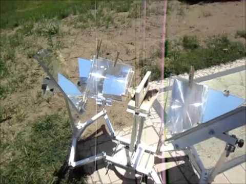MUMA Solar Cooker: Test generale