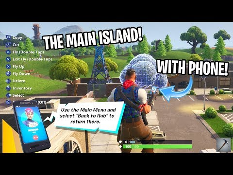 How To GET TO MAIN ISLAND IN CREATIVE MODE! (WORKING METHOD) (EASY METHOD GLITCH)