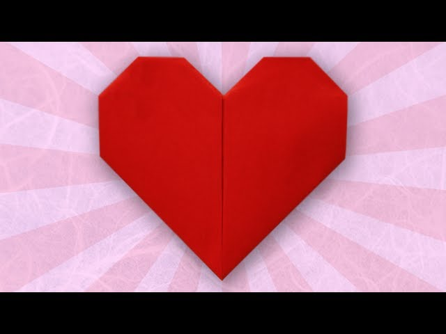 Grab A Piece Of Pink Or Red Paper To Make An Origami Heart You Can Place Them On Your Desk Hang Walls Give Sweetheart For