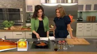 Nigella Lawson - Mirin-glazed salmon + Sake sea bass and wilted greens