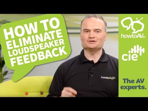Eliminating microphone feedback on loudspeakers