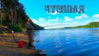 Рыбалка на поплавочную удочку на реке Чусовая клюёт на каждом забросе