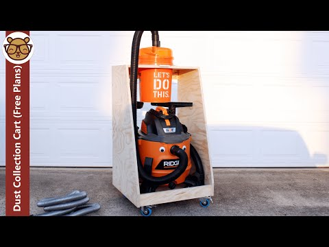 Build a Dust Collection Cart for a Shop Vac and a Dustopper Dust Separator