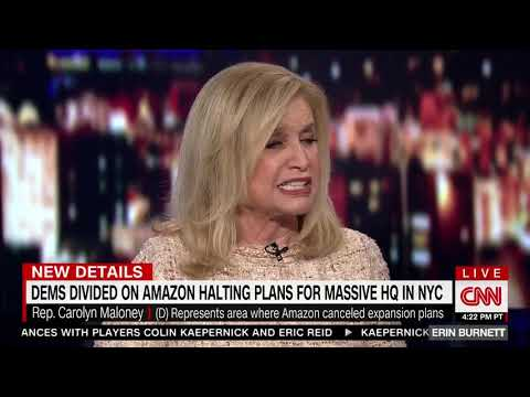 Carolyn Maloney (D) Slams Ocasio-Cortez's Opposition to Amazon: 'Now We Are Protesting Jobs?'