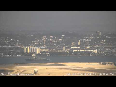 Carl Vinson Carrier Strike Group departing San Diego 8/22/2014 [Cabrillo cam] 3 of 3