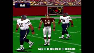NFL Gameday 2000 Chargers Vs  Redskins Part 1